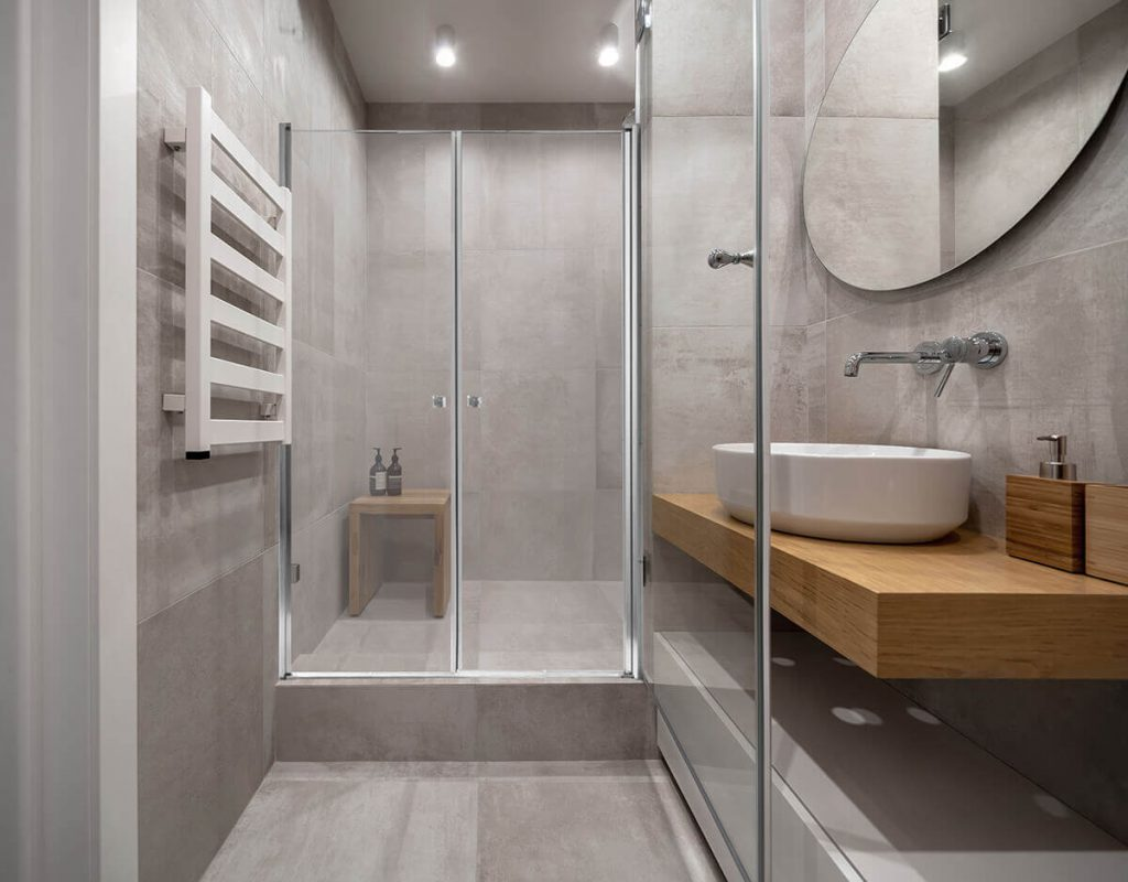 RAVID מקלחון חזית 2 דלתות ניקל
