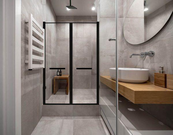 RAN מקלחון חזית 2 דלתות שחור