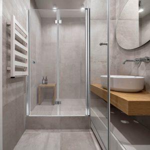 GILAD מקלחון חזית דלת אחת מתקפלת גוון ניקל