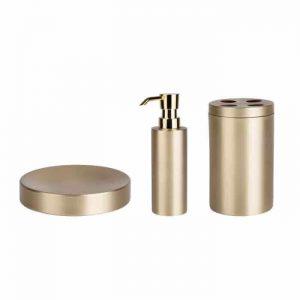 סט אביזרי אמבטיה זהב