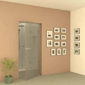 מקלחון DORIT דלת זכוכית