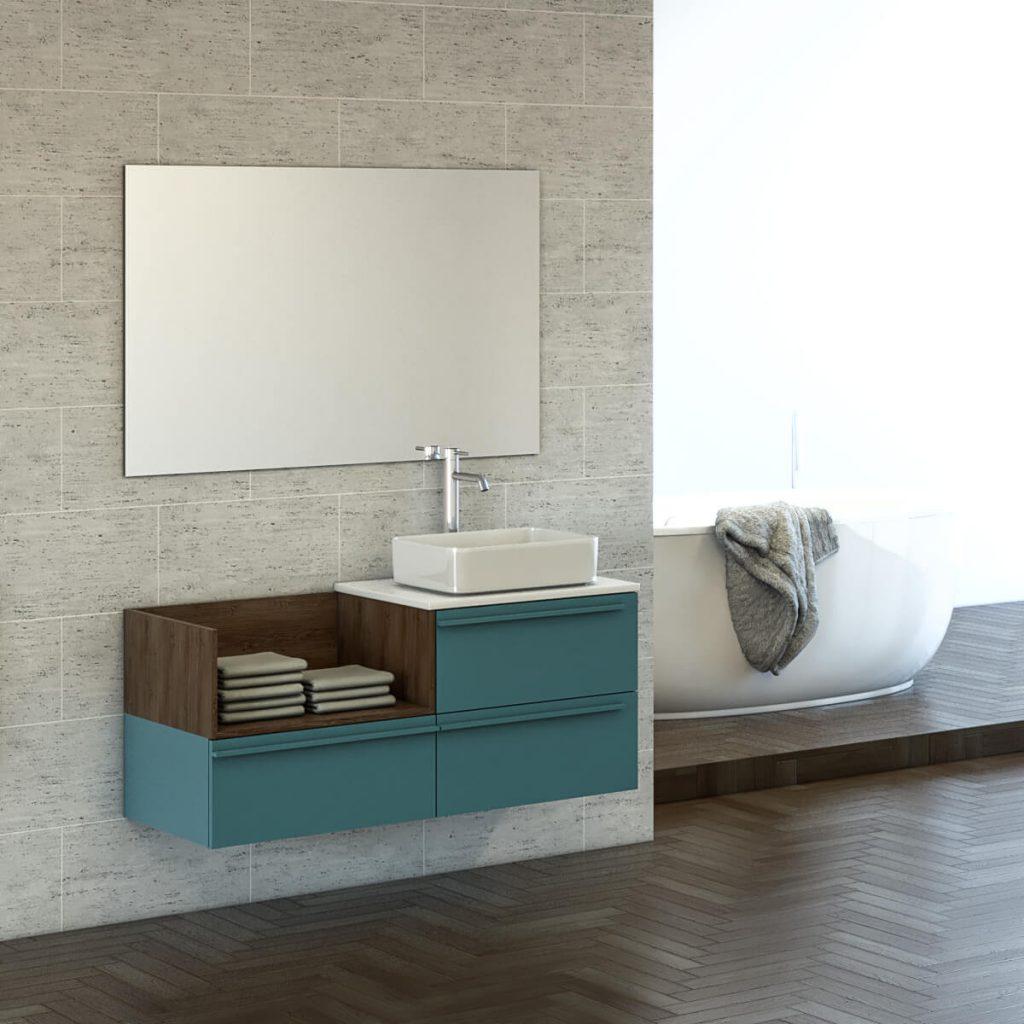 LIBI ארון אמבטיה סנדוויץ תלוי בצביעת אפוקסי